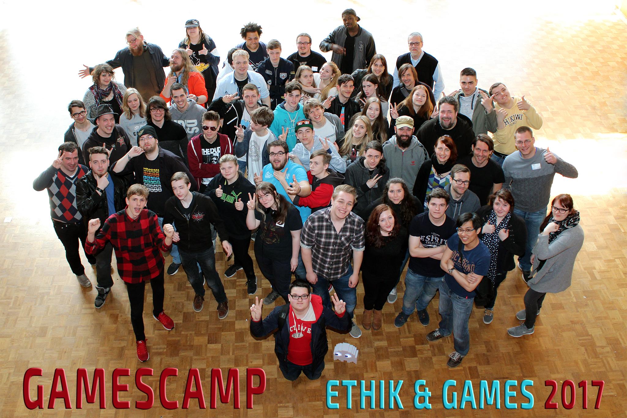 Gruppenfoto Gamescamp Ethik und Games 2017